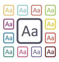 type flat icons set vector image