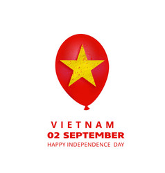 vietnam 2nd september happy independence day vector image