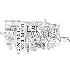 what is lsi text word cloud concept vector image