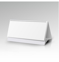 white blank paper desk spiral calendar spiral vector image