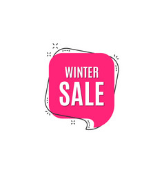 winter sale special offer price sign vector image
