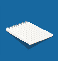 Blank white copybook template 3d of vector