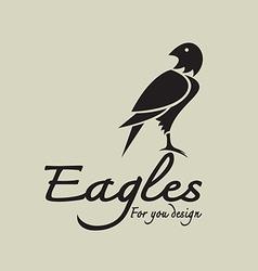 Eagles design vector image