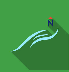 Northern wind icon in flate style isolated on vector
