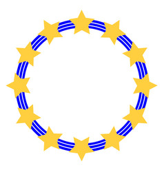 symbol of the european union stars in three vector image