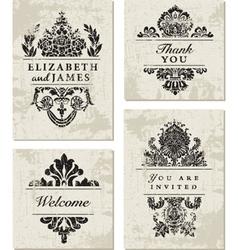 Vintage card designs vector image vector image