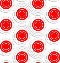 White colored paper red spools merging vector image vector image