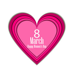 8 march day international womens day paper vector image vector image