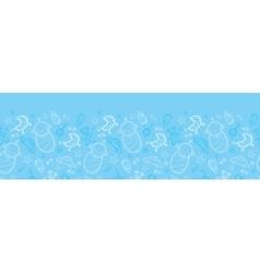 Baby boy blue horizontal seamless pattern vector image vector image