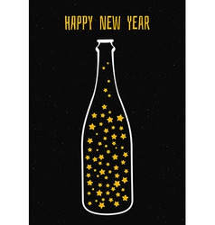 Champagne with the stars vector image vector image