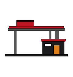 colorful graphic gasoline service station vector image