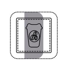 contour emblem coffee espresso icon vector image vector image