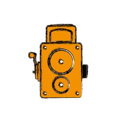 vintage retro videocamera vector image vector image