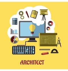Architect or education concept vector image vector image