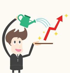 businessman wateringbusiness success vector image vector image