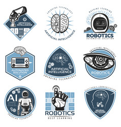 colorful futuristic innovations labels collection vector image vector image