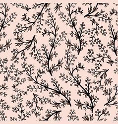 gentle flower seamless pattern with pink plants vector image