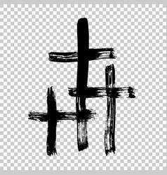 hand drawn cross grunge cross cross made with vector image