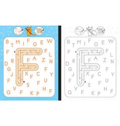Maze letter f vector