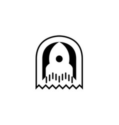 rocket icon logo template vector image