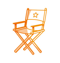 Silhouette short film director sit vector