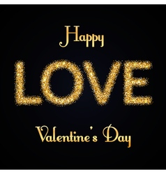 valentines day gold love vector image