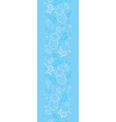 Baby boy blue vertical seamless pattern background vector image