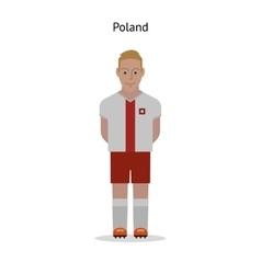 Football kit Poland vector image