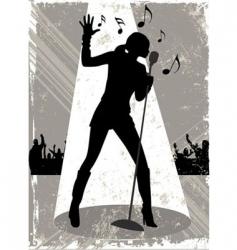 grunge singer vector image