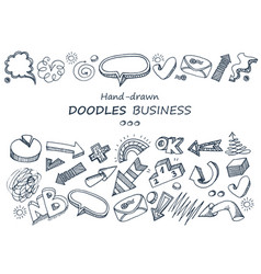 hand-drawn elements doodles collection vector image