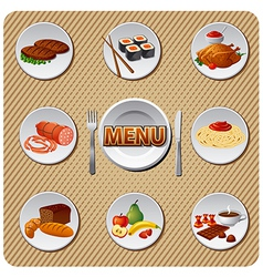 menu design vector image vector image