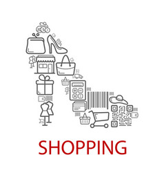 shopping retail selling poster vector image
