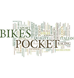 The origin of pocket bikes text background word vector