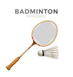 3d badminton shuttlecock white mock up vector image