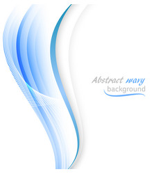 Abstract background with transparent blue wavy vector