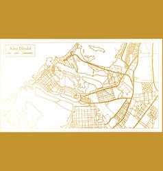 Abu dhabi uae city map in retro style in golden vector