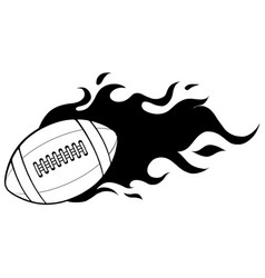 american football ball in black and white vector image