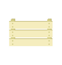 ampty wooden box isolated on white background vector image