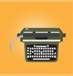 Ancient typewriter vector