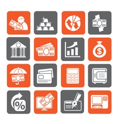 Bank business and finance icons vector image