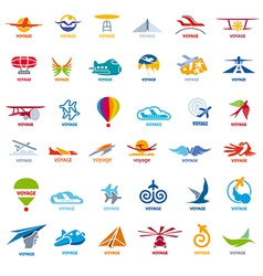 Biggest collection logos flights vector