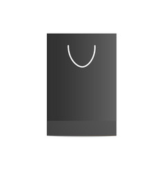 black matte shopping bag from side view vector image