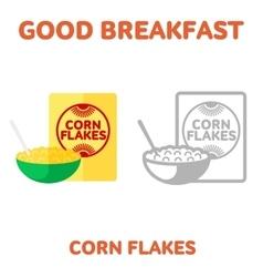 breakfast 1205 elements 07 vector image