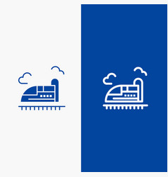 Bullet train high speed line and glyph solid icon vector