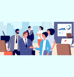 business handshake corporate contract signing vector image