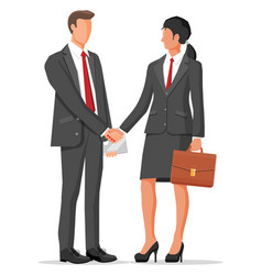 business people partners handshake vector image