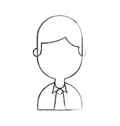 Businessman avatar character icon vector