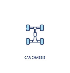 Car chassis concept 2 colored icon simple line vector