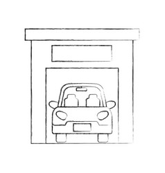 car inside garage repair parking icon image vector image