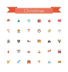 Christmas flat icons vector
